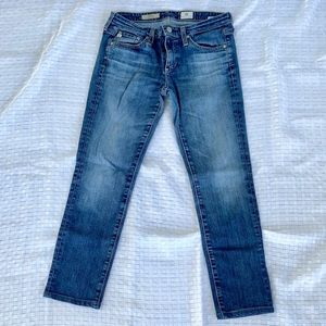 AG The Stilt Cigarette Leg Crop Jeans.  Size 27R